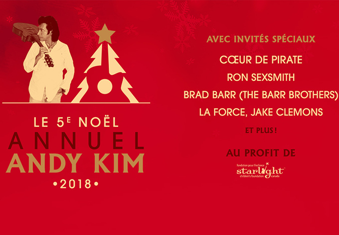 Andy Kim Christmas 2018 - December 15, 2018, Montreal