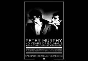 Peter Murphy 40 ans de Bauhaus