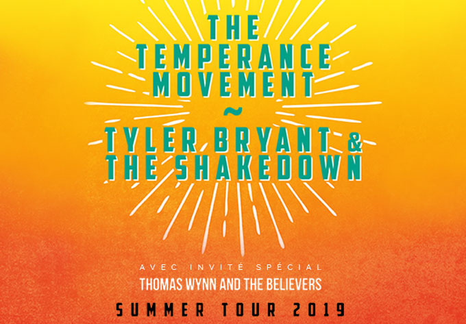 The Temperance Movement +Tyler Bryant & The Shakedown - July  5, 2019, Montreal