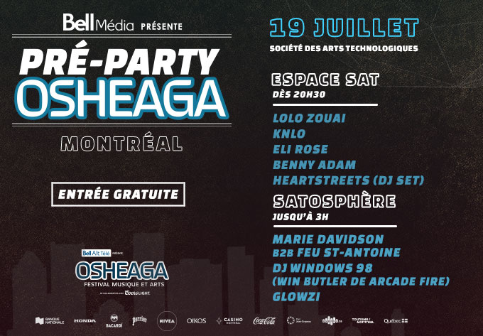 Pré-Party Osheaga Officiel - 19 juillet 2019, Montréal