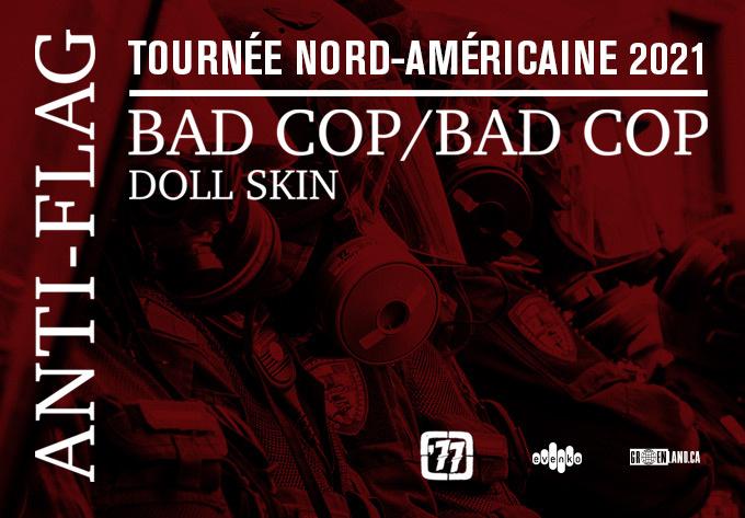 Anti-Flag - 5 novembre 2021, Montréal