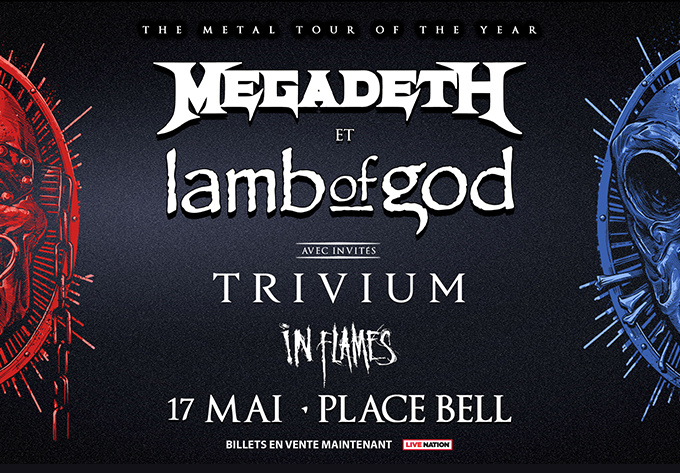 Megadeth + Lamb Of God - July 30, 2021, Laval