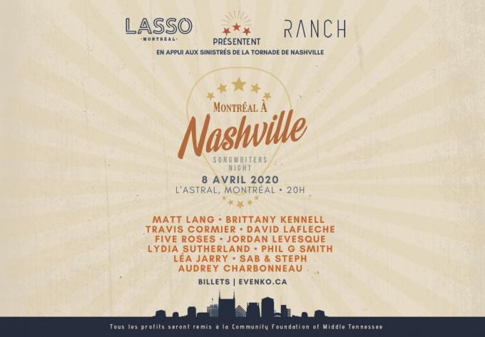 Le Spectacle Bénéfice Montréal à Nashville - May  4, 2020, Montreal