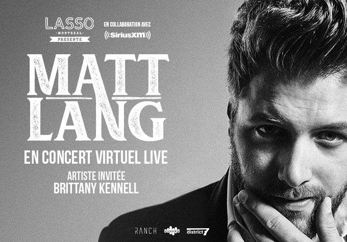 Matt Lang (Livestream) - July 10, 2020, Online