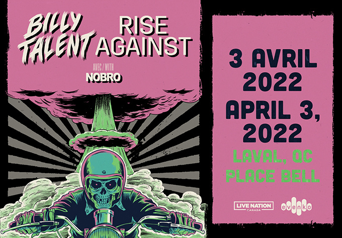 Billy Talent & Rise Against  - 3 avril 2022, Laval